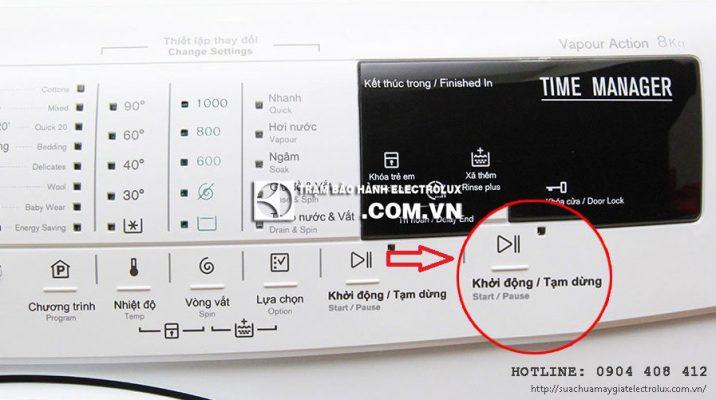 5 nguyên nhân máy giặt Electrolux nháy đèn Start và cách khắc phục