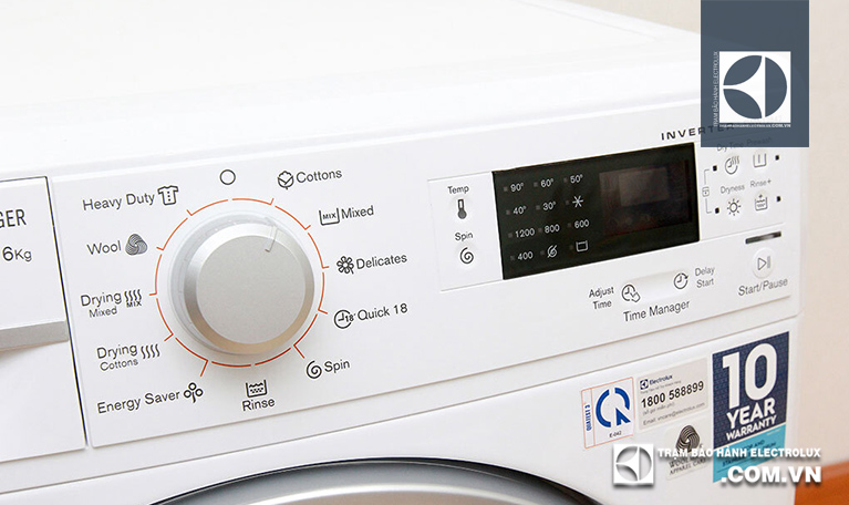Chọn lại một chương trình giặt và cho máy giặt không
