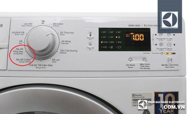 Kích hoạt và sử dụngchế độ sấy của máy giặt Electrolux
