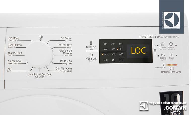 Máy giặt Electrolux báo lỗi LỌC/ LOC: 2 Nguyên Nhân & Cách sửa