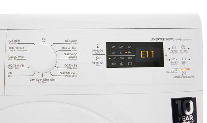 Máy giặt Electrolux báo lỗi E11: Nguyên Nhân & Cách Khắc Phục