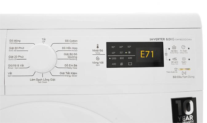 Máy giặt Electrolux báo lỗi E71: Hé lộ 3 Nguyên nhân & Cách sửa