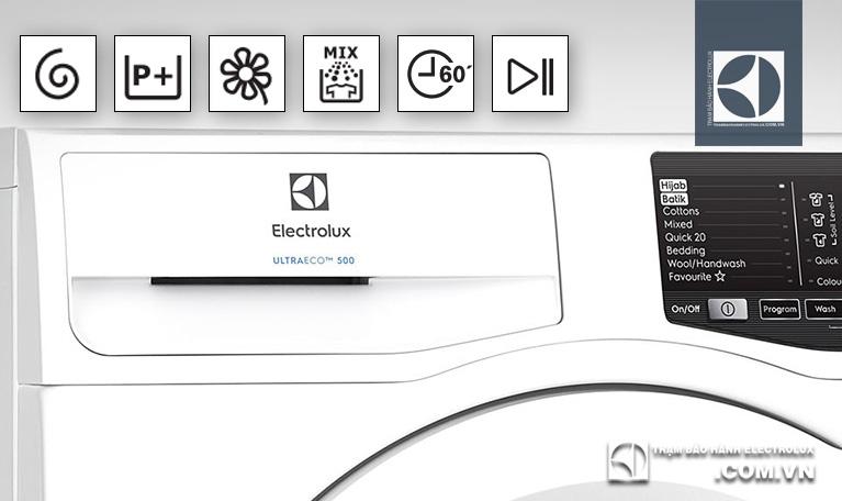 Giải thích ý nghĩa 18 ký hiệu thường gặp trên máy giặt Electrolux