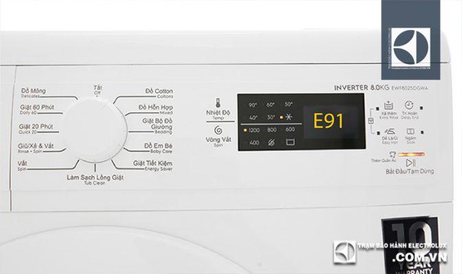 Máy giặt Electrolux báo lỗi E91: 4 Nguyên Nhân & Cách Xử Lý